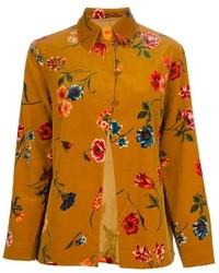 Vintage floral printed shirt medium 21575