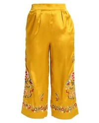 Topshop Trousers Yellow