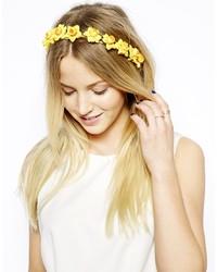 Yellow paintily flowers headband medium 204027