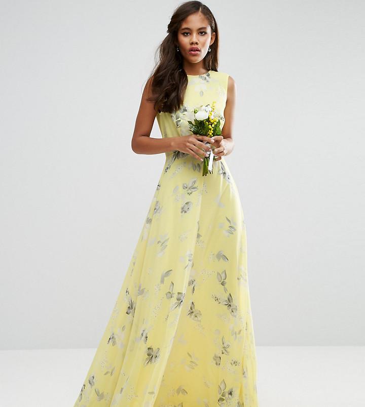 Asos Tall Asos Tall Wedding Maxi Dress In Sunshine Floral Print 66 Asos Lookastic Uk,Wedding Dress Shops In Miami
