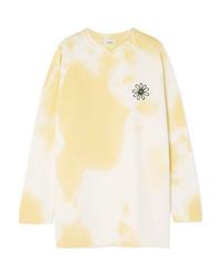 Ganni Appliqud D Cotton Jersey Sweatshirt