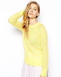 Wool mix sweater lemon medium 52375