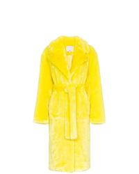 Tibi Faux Fur Trench Coat