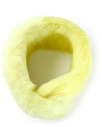 Yellow Fur Scarf