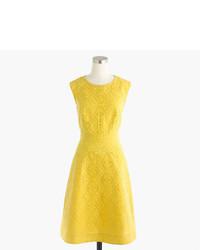J.Crew Petite Textured Eyelet Jacquard Dress