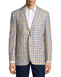 Yellow Gingham Blazer