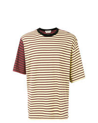 Yellow Horizontal Striped Crew-neck T-shirt