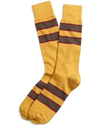 Yellow Horizontal Striped Socks