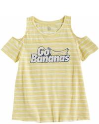 Yellow Horizontal Striped T-shirt