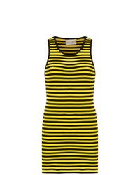Andrea Bogosian Striped Slim Fit Dress