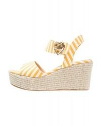 Moschino Wedge Sandals Yellow