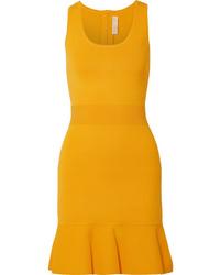 MICHAEL Michael Kors Fluted Stretch Knit Mini Dress
