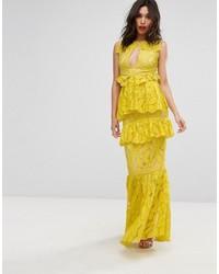 Yellow Lace Maxi Dress