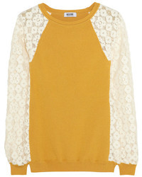 Moschino cheap and chic lace and ribbed knit sweater medium 9858