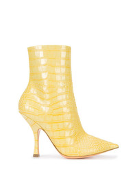 Y/Project Y Project Crocodile Embossed Ankle Boots