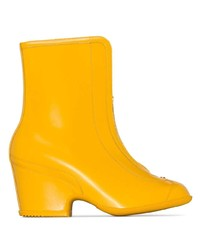 Gucci Yellow Kitt Zip Leather Wellie Boots