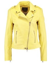 Leather jacket dark yellow medium 3993180