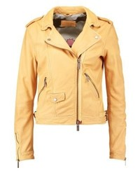 Leather jacket light yellow medium 3993111