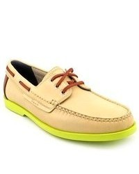Yellow Leather Boat Shoes