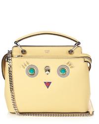Fendi Dotcom Small Hypnoteyes Leather Cross Body Bag