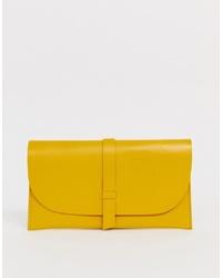 ASOS DESIGN Leather Slot Through Foldover Purse
