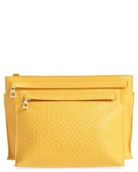 Embossed crossbody pouch yellow medium 620002