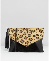 Leather envelope cross body bag with tassel medium 959240