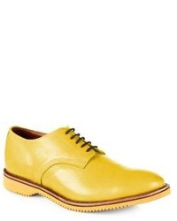 Yellow Leather Derby Shoes