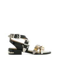 Toga Pulla D Contrast Strap Sandals