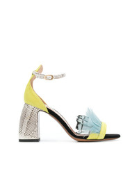 L'Autre Chose Feather Embellished Sandals