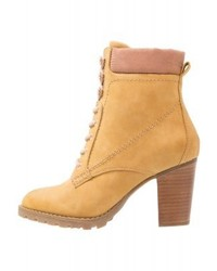 Anna Field Lace Up Boots Corn