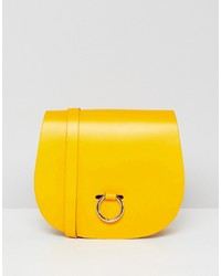 Leather Satchel Company The Saddle Bag With Bull Ring Closure