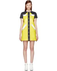 Courreges Courrges Yellow Patent Mini Dress