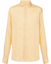Yellow Linen Long Sleeve Shirt
