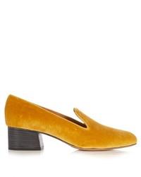Chloé Chlo Kingsley Velvet Loafers