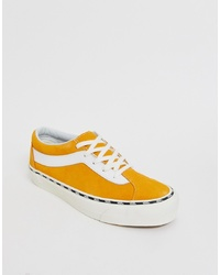 Vans Bold Trainers With Side Tape In Yellow