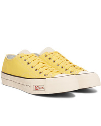 VISVIM Skagway Leather Trimmed Canvas Sneakers