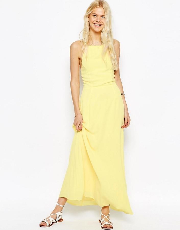 Maxi Asos Lookastic Dress £23 Uk Back With Tie qZBOZCd