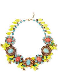 Copacabana gold plated crystal and enamel necklace yellow medium 800464