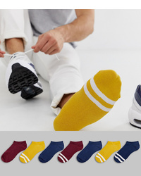 ASOS DESIGN Trainer Socks In Fashion Colours 7 Pack