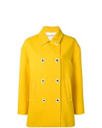 Emilio Pucci Yellow Double Breasted Pea Coat