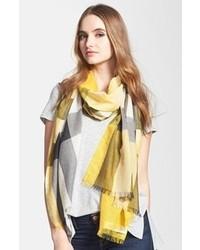 Burberry Mega Check Wool Silk Gauze Scarf