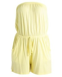 New Look Basic Bandeau Jumpsuit Bright Yellow
