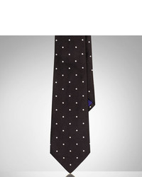 Ralph Lauren Purple Label Polka Dot Silk Satin Tie