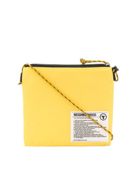 Yellow Print Canvas Messenger Bag