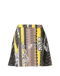Versace Jeans Printed A Line Mini Skirt