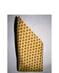 Yellow Print Silk Scarf