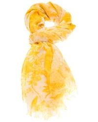 Flower print scarf medium 74055