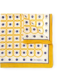 Boglioli Printed Cotton And Silk Blend Pocket Square