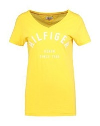 Tommy Hilfiger Print T Shirt Yellow